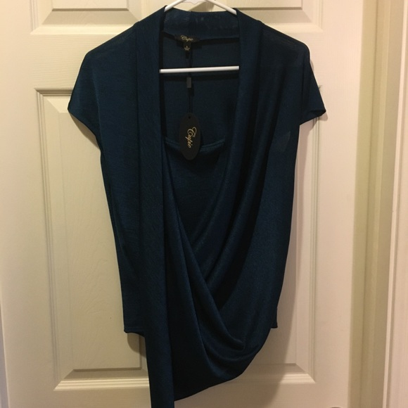 Cupio Tops - Cupio Blue Wrap Top, Size Small NWT